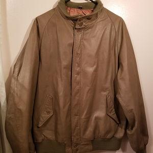 VINTAGE 1970's Zero King Leather Jacket L44